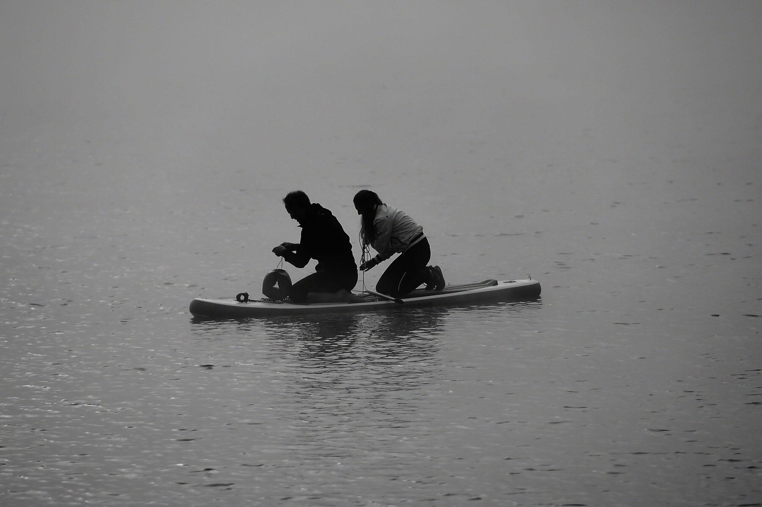 Auf der Suche nach den Bojen im Nebel!